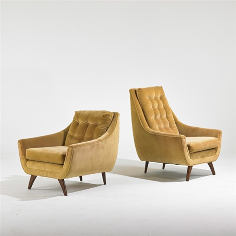 His And Hers Lounge Chairs, Wilkes Barre, Pa. (2 Works) By