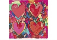 four hearts by jim dine