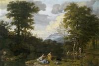 klassische landschaft mit arkadischer staffage by johannes (jan) glauber