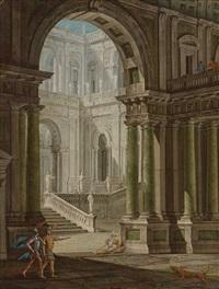 palastarchitektur mit römischen kriegern by anonymous-italian (18)