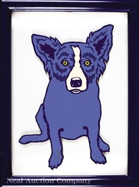 untitled blue dog by george rodrigue