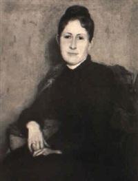 portrait einer jungen frau mit direktem blick zum betrachter by george sauter