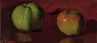 a study of apples (+ a wooded path; 2 works) by lazar krestin