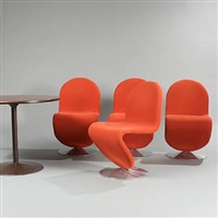 system 1-2-3 easy chairs (set of 5) by verner panton