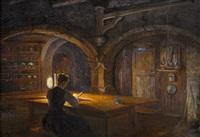la veillée solitaire dans la vieille cuisine de notre joux perret bien aimée by edouard jeanmaire