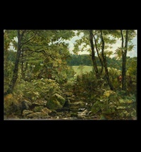 the woodland brook by john wright oakes