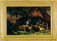sheepherder by johannes wilhelm van der heide
