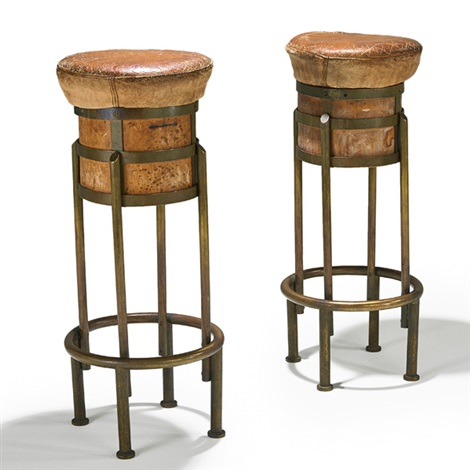 Bon Art Deco Bar Stools (pair) By Maison Desny