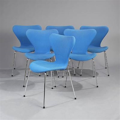 seven chair model 3107 set of 6 by arne jacobsen