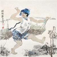 采鲜藕 by li xiufeng