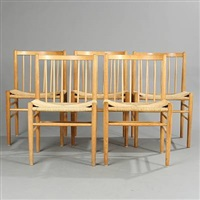 chairs (model j 80) (set of 5) by jørgen bækmark