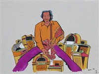 collection of 11 original drawings by peder bundgaard