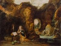 grottenlandschaft mit maria magdalena, 1. hälfte 17. jahrhundert by anonymous-flemish (17)