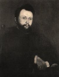 portrait eines mannes mit vollbart und goldener brille by george sauter