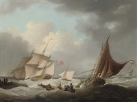 choppy waters off the dutch coast by george webster