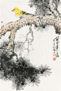 松梅黄鹂 by xu chunyuan