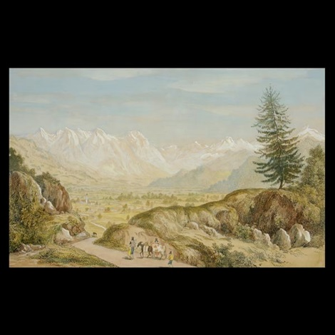 view of the bavarian alps from murnau by charles (sir) d'oyly