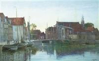 evening by a dutch canal by arthur j. legge