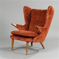 wingbacked armchair (model 91) by svend skipper