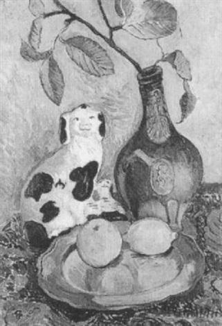 stilleben mit hund und zitrone by joachim ragoczy