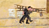 men and ladders by george kennerley