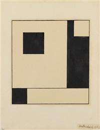 abstrakte komposition 1923 by max burchartz