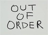 (untitled) out of order by jonathan monk