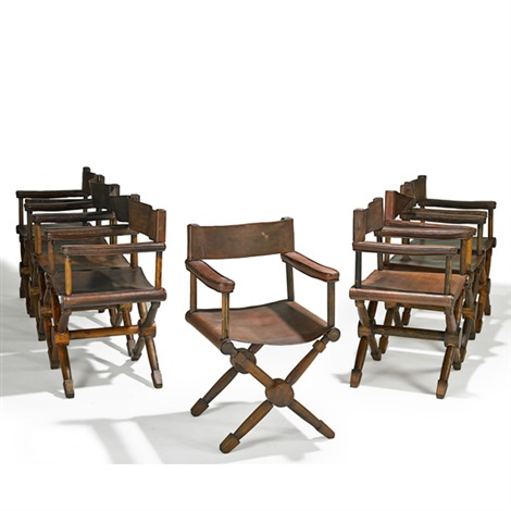 directors armchairs set of 8 by jean michel frank
