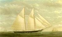 yacht in full sail by james gardner babbidge