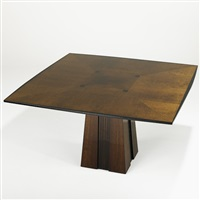 ariel square dining table by dakota jackson