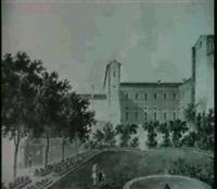 il giardino privato di maria luigia nel palazzo ducale di  parma by giuseppe alinovi