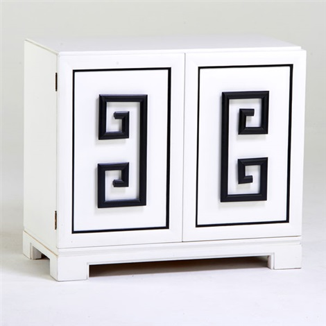 Two door cabinet with greek key design fitted with three for Door key design