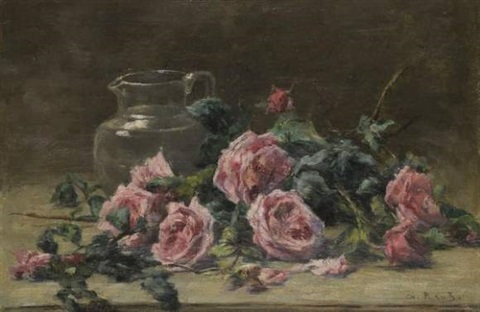 bouquet de roses by charles francisque raub