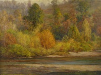 autumn, brookville by john ottis adams