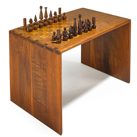 chess table and set 2 works by arthur espenet carpenter