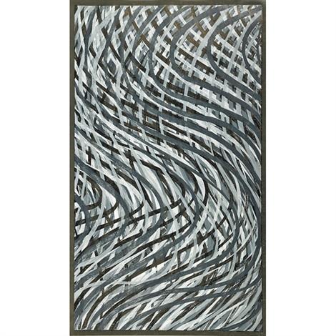 wavy lines grey by sol lewitt