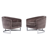 lounge chairs (pair) by milo baughman