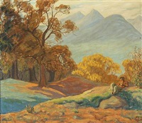 landscape with faun by anne e. munch