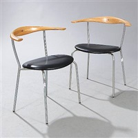 dining chairs (model jh 701) (pair) by hans j. wegner