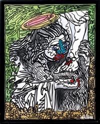 marie madeleine lavant les pieds du christ by robert combas