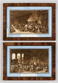 scene della caduta di cartagine (pair) by luigi ademollo