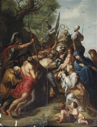 christ carrying the cross by jacob andries beschey