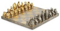 schackspel med 32 pjäser och schackbrädet, modell 455 by marie-louise idestam-blomberg