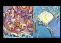planet and deep night (2 works) by miyuki akiyama
