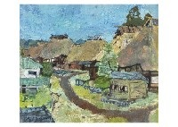 post town in the autumn day by yamashita daigoro