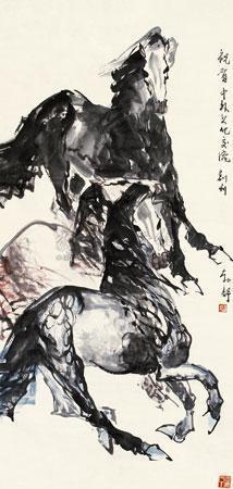 三马图 by liu boshu