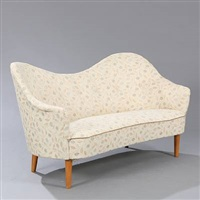 samspel freestanding two seater sofa by carl malmsten