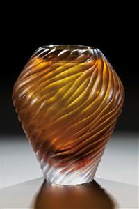 seltene und bedeutende vase ''miros tre'' by miroslav hrstka