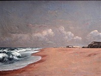 la plage aux environs de biarritz by william roethlisberger