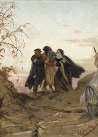sanitäter versorgen einen verwundeten schwarzen soldaten by herrmann philipp junker the elder